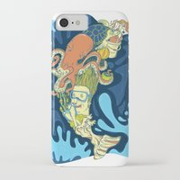 dolphin iPhone & iPod Cases featuring dolphin by punkysilly