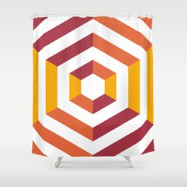 Concentric Shower Curtain