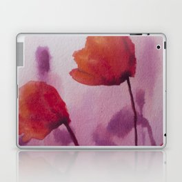 Watercolor Poppies Laptop & iPad Skin