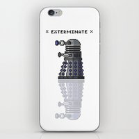dalek iPhone & iPod Skins featuring Pixel Dalek by Dean Bottino