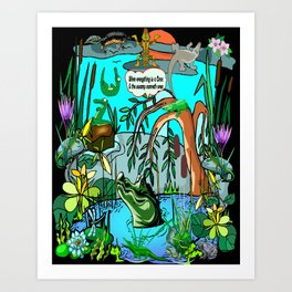 When Everything Is A Croc & The Swamp Runneth Over Art Print