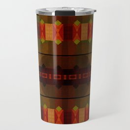 """Full Colors Tribal Pattern"" Travel Mug"