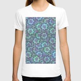 Blue Sedum Spiral Pattern T-shirt