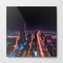 Dubai cityscape emirates travel Metal Print