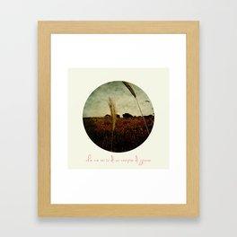 Che ne sai tu di un campo di grano Framed Art Print