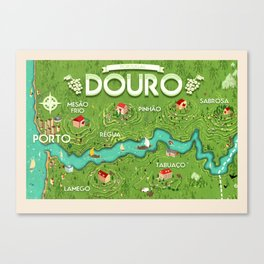 Travel Posters - Douro Canvas Print