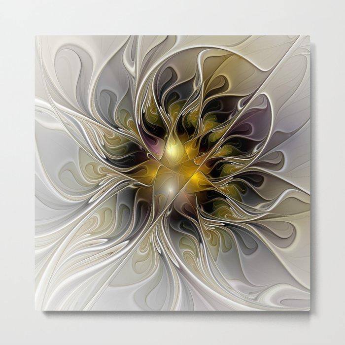 Abstract Beauty, Modern Fractals Art Metal Print