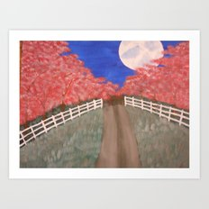 Cherry Blossom Pathway Art Print