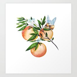 Bee Fruitful Art Print