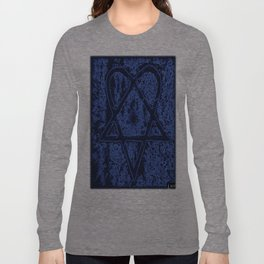 Nightfall Blue Heartagram Long Sleeve T-shirt