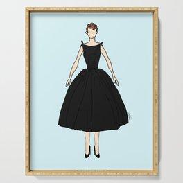 Audrey Vintage Retro Fashion 1 Serving Tray