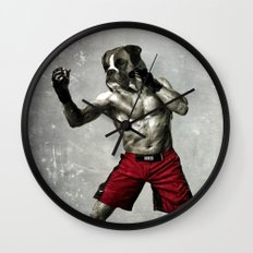 Boxer. The boxer fighter. Wall Clock