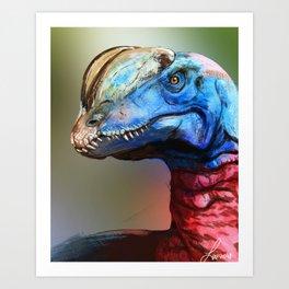 Dilophosaurus Art Print