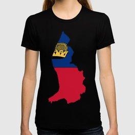 Liechtenstein Map with Liechtensteiner Flag T-shirt