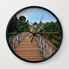 Rickety Bridge - Peru Wall Clock