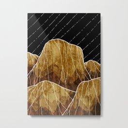 The golden rocks under the stars Metal Print