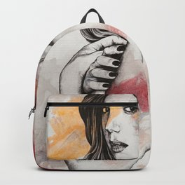 untitled #61019 (sexy girl with zentangle drawings) Backpack