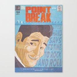 Point Break Comic Style Print Canvas Print