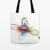 lotus flower Tote Bags featuring Lotus by haroulita
