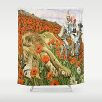 oz Shower Curtains featuring Poppies Wizard of Oz by PaperMacheDreamsPhotography