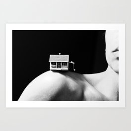 House on a Hill, III Art Print