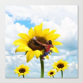 Yellow flower climbing Canvas Print