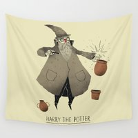 potter Wall Tapestries featuring the potter. by Louis Roskosch