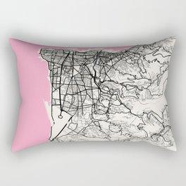 Beirut - Lebanon Neapolitan City Map Rectangular Pillow