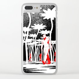 Searching for flowers Clear iPhone Case