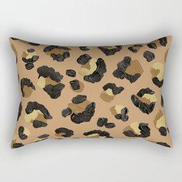 Leopard Print – Neutral & Gold Palette Rectangular Pillow