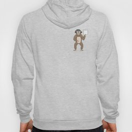 clever monkey with diploma Hoody