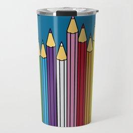 Pencils in line Travel Mug