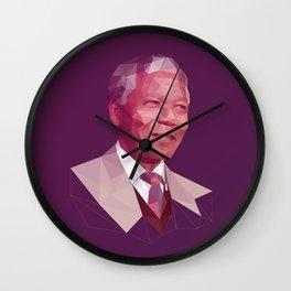 Mandela Poly Portrait Wall Clock