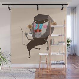 Baboon & Coffee Wall Mural