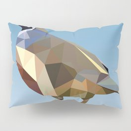 Geometric Quail Pillow Sham