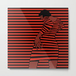 Stripes Woman Metal Print