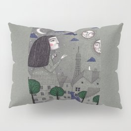 Above the Rooftops Pillow Sham