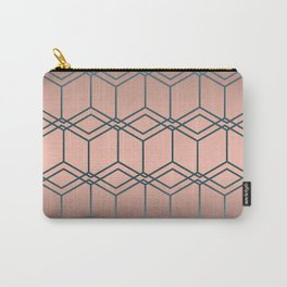 Brown pink geometric pattern Carry-All Pouch