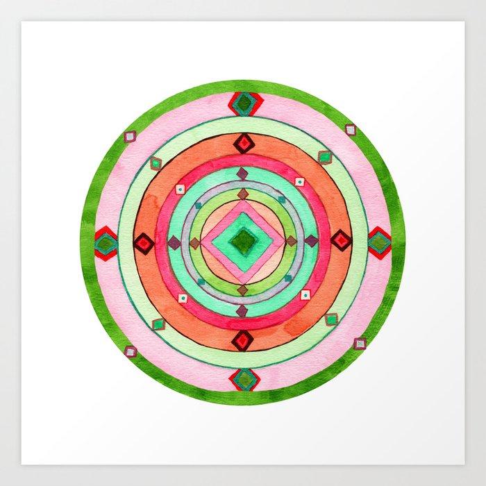 Sedona Portal Mandala Art Print