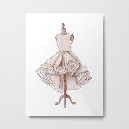 Dress Haute Couture Metal Print