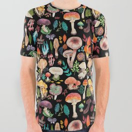 Mushroom heart All Over Graphic Tee