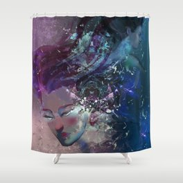 Black Hole Apprehension Shower Curtain