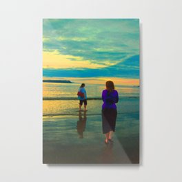 Beach Chillaxing Metal Print