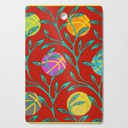Basketball Flowers Cutting Board