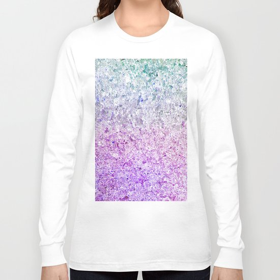 Frozen, close up photograph of snow and ice Long Sleeve T-shirt