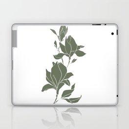 Botanical illustration line drawing - Magnolia Green Laptop & iPad Skin
