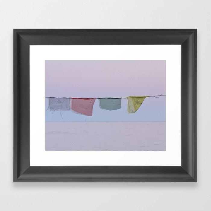 island prayer flags Framed Art Print