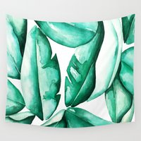 jungle Wall Tapestries featuring Jungle by kristinesarleyart