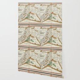 Vintage Map of Mesopotamia (1482) Wallpaper