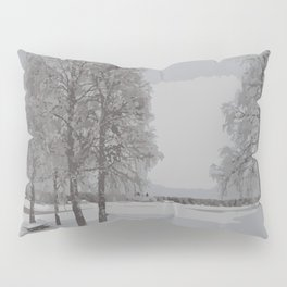 winter view from Lapland Pillow Sham